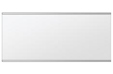 トイレ鏡 洗面鏡 化粧鏡 浴室鏡 クリスタルミラー シリーズ:b-cm-h-s-2f-w800mmxh360mm(長方形 正方形)(クリアーミラー 上下2方フレームタイプ)