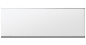 鏡 ミラー 壁掛け鏡 ウォールミラー ステンフレーム シリーズ(一般空間用):i-cm-h-s-2f-w1000mmxh350mm(四角形)(クリアーミラー 上下2方フレームタイプ)( 壁掛け 姿見 ステンレス フレームミラー )