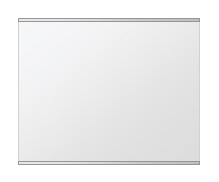 鏡 ミラー 壁掛け鏡 ウォールミラー ステンフレーム シリーズ(一般空間用):i-cm-h-s-2f-w640mmxh500mm(四角形)(クリアーミラー 上下2方フレームタイプ)( 壁掛け 姿見 ステンレス フレームミラー )