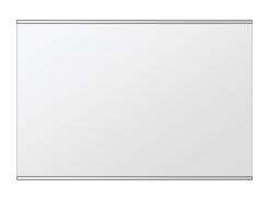 クリスタル ミラー 上下フレーム w750mmxh500mm 長方形 鏡 壁掛け ミラー 壁掛け 日本製 5mm厚 玄関 リビング 寝室 トイレ 取付金具と説明書 壁に直付け 壁掛けミラー ウオールミラー 姿見 全身 おしゃれ 軽量 角型 四角 四角形