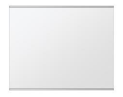 鏡 ミラー 壁掛け鏡 ウォールミラー ステンフレーム シリーズ(一般空間用):i-cm-h-s-2f-w760mmxh608mm(四角形)(クリアーミラー 上下2方フレームタイプ)( 壁掛け 姿見 ステンレス フレームミラー )