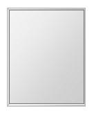 飛散防止加工 鏡 ミラー 安心 安全 ステンフレーム シリーズ:b-cm-h-s-4f-400mmx500mm-HS(四角形)(クリアーミラー 4方フレームタイプ)日本製 アイビーオリジナル洗面 浴室 風呂 トイレ 水廻り 壁掛け 姿見 鏡 専用取付金具付き