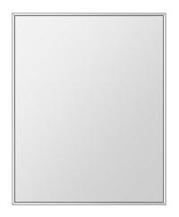 クリスタル ミラー 上下左右フレーム 600x750mm 長方形 鏡 壁掛け ミラー 壁掛け 日本製 5mm厚 玄関 リビング 寝室 トイレ 取付金具と説明書 壁に直付け 壁掛けミラー ウオールミラー 姿見 全身 おしゃれ 軽量 角型 四角 四角形