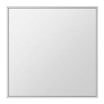 クリスタル ミラー 上下左右フレーム 650x650mm 正方形 鏡 壁掛け ミラー 壁掛け 日本製 5mm厚 玄関 リビング 寝室 トイレ 取付金具と説明書 壁に直付け 壁掛けミラー ウオールミラー 姿見 全身 おしゃれ 軽量 角型 四角 四角形