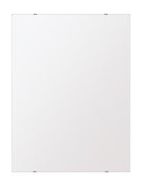 スーパークリアー ミラー 600x800mm 長方形 シンプルカット 鏡 壁掛け ミラー 壁掛け 日本製 5mm厚 玄関 リビング 寝室 トイレ 取付金具と説明書 高透過 高精彩 壁掛け壁 壁に直付け ウオールミラー 姿見 全身 おしゃれ 軽量 角型 四角 四角形