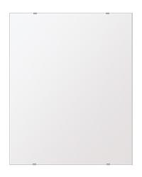 洗面鏡 浴室鏡 トイレ鏡 化粧鏡 日本製 高透過 超透明鏡 四角形 鏡 608mmx760mm スーパークリアーミラー シンプルタイプ 国産 フレームレスミラー 風呂 鏡 壁掛け鏡 壁掛けミラー ウオールミラー 姿見 姿見鏡 ミラー