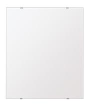 飛散防止加工 鏡 ミラー 高透過 超透明鏡 安心 安全 クリスタルミラー シリーズ:b-scm-h-s-549mmx649mm-HS(四角形)(スーパークリアーミラー シンプルタイプ)アイビーオリジナル洗面 浴室 風呂 トイレ 水廻り 壁掛け 姿見 鏡 ミラー