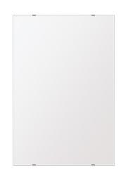 スーパークリアー ミラー 500x750mm 長方形 シンプルカット 鏡 壁掛け ミラー 壁掛け 日本製 5mm厚 玄関 リビング 寝室 トイレ 取付金具と説明書 高透過 高精彩 壁掛け壁 壁に直付け ウオールミラー 姿見 全身 おしゃれ 軽量 角型 四角 四角形