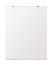 飛散防止加工 鏡 ミラー 高透過 超透明鏡 安心 安全 クリスタルミラー シリーズ:b-scm-h-s-500mmx640mm-HS(四角形)(スーパークリアーミラー シンプルタイプ)アイビーオリジナル洗面 浴室 風呂 トイレ 水廻り 壁掛け 姿見 鏡 ミラー
