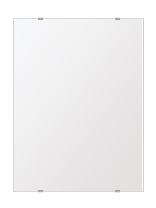 洗面鏡 浴室鏡 トイレ鏡 化粧鏡 日本製 高透過 超透明鏡 四角形 鏡 457mmx610mm スーパークリアーミラー シンプルタイプ 国産 フレームレスミラー 風呂 鏡 壁掛け鏡 壁掛けミラー ウオールミラー 姿見 姿見鏡 ミラー