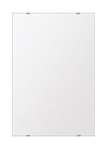 スーパークリアー ミラー 400x600mm 長方形 シンプルカット 鏡 壁掛け ミラー 壁掛け 日本製 5mm厚 玄関 リビング 寝室 トイレ 取付金具と説明書 高透過 高精彩 壁掛け壁 壁に直付け ウオールミラー 姿見 全身 おしゃれ 軽量 角型 四角 四角形