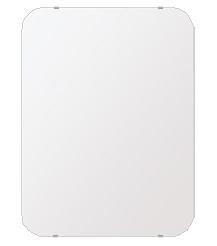 洗面鏡 浴室鏡 トイレ鏡 化粧鏡 日本製 高透過 超透明鏡 角丸四角形 鏡 608mmx811mm スーパークリアーミラー 30Rシンプルタイプ 国産 フレームレスミラー 風呂 鏡 壁掛け鏡 壁掛けミラー ウオールミラー 姿見 姿見鏡 ミラー