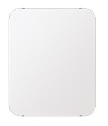 洗面鏡 浴室鏡 トイレ鏡 化粧鏡 日本製 高透過 超透明鏡 角丸四角形 鏡 608mmx760mm スーパークリアーミラー 30Rシンプルタイプ 国産 フレームレスミラー 風呂 鏡 壁掛け鏡 壁掛けミラー ウオールミラー 姿見 姿見鏡 ミラー