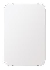 飛散防止加工 鏡 ミラー 高透過 超透明鏡 安心 安全 クリスタルミラー シリーズ:b-scm-h-s-30r-506mmx760mm-HS(角丸四角形)(スーパークリアーミラー 30R シンプルタイプ)アイビーオリジナル 洗面 浴室 風呂 トイレ 水廻り 鏡 ミラー