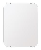 スーパークリアー ミラー 500x640mm 角丸四角形 シンプルカット 鏡 壁掛け ミラー 壁掛け 日本製 5mm厚 玄関 リビング 寝室 トイレ 取付金具と説明書 高透過 高精彩 壁掛け壁 壁に直付け ウオールミラー 姿見 全身 おしゃれ 軽量 角型 四角 四角形