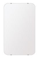 洗面鏡 浴室鏡 トイレ鏡 化粧鏡 日本製 高透過 超透明鏡 角丸四角形 鏡 380mmx640mm スーパークリアーミラー 30Rシンプルタイプ 国産 フレームレスミラー 風呂 鏡 壁掛け鏡 壁掛けミラー ウオールミラー 姿見 姿見鏡 ミラー