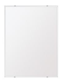 スーパークリアー ミラー 600x800mm 長方形 クリスタルカット 鏡 壁掛け ミラー 壁掛け 日本製 5mm厚 玄関 リビング 寝室 トイレ 取付金具と説明書 高透過 高精彩 壁掛け壁 壁に直付け ウオールミラー 姿見 全身 おしゃれ 軽量 角型 四角 四角形