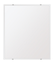 鏡 壁掛け 鏡 ミラー 日本製 高透過 超透明鏡 四角形 鏡 549mmx649mm スーパークリアーミラー クリスタルカット 国産 フレームレスミラー 壁掛け鏡 壁掛けミラー ウォールミラー 姿見 姿見鏡 インテリアミラー (リビング、玄関、廊下、寝室など一般空間用)