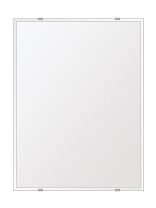 スーパークリアー ミラー 450x600mm 長方形 クリスタルカット 鏡 壁掛け ミラー 壁掛け 日本製 5mm厚 玄関 リビング 寝室 トイレ 取付金具と説明書 高透過 高精彩 壁掛け壁 壁に直付け ウオールミラー 姿見 全身 おしゃれ 軽量 角型 四角 四角形