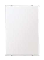 鏡 壁掛け 鏡 ミラー 日本製 高透過 超透明鏡 四角形 鏡 406mmx610mm スーパークリアーミラー クリスタルカット 国産 フレームレスミラー 壁掛け鏡 壁掛けミラー ウォールミラー 姿見 姿見鏡 インテリアミラー (リビング、玄関、廊下、寝室など一般空間用)