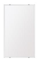 スーパークリアー ミラー 350x600mm 長方形 クリスタルカット 鏡 壁掛け ミラー 壁掛け 日本製 5mm厚 玄関 リビング 寝室 トイレ 取付金具と説明書 高透過 高精彩 壁掛け壁 壁に直付け ウオールミラー 姿見 全身 おしゃれ 軽量 角型 四角 四角形