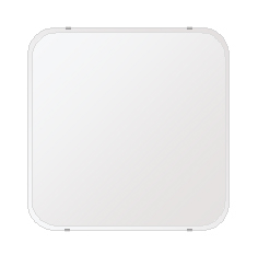鏡 壁掛け 鏡 ミラー 日本製 高透過 超透明鏡 角丸四角形 鏡 650mmx650mm スーパークリアーミラー 30Rクリスタルスカット 国産 フレームレスミラー 壁掛け鏡 壁掛けミラー ウォールミラー 姿見 姿見鏡 インテリアミラー (リビング、玄関、廊下、寝室など一般空間用)