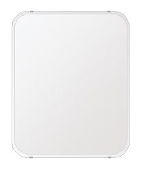 飛散防止加工 鏡 ミラー 高透過 超透明鏡 安心 安全 クリスタルミラー シリーズ(一般空間用):i-scm-h-4m-30r-608mmx760mm-HS(角丸四角形)(スーパークリアーミラー 30Rクリスタルカットタイプ)アイビーオリジナル 壁掛け鏡 ミラー