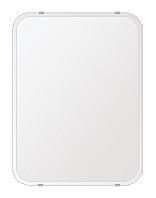 洗面鏡 浴室鏡 トイレ鏡 化粧鏡 日本製 高透過 超透明鏡 角丸四角形 鏡 455mmx608mm スーパークリアーミラー 30Rクリスタルカット 国産 フレームレスミラー 風呂 鏡 壁掛け鏡 壁掛けミラー ウオールミラー 姿見 姿見鏡 ミラー