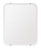 鏡 ミラー 高透過 超透明鏡 トイレ鏡 洗面鏡 化粧鏡 浴室鏡 クリスタルミラー シリーズ:b-scm-h-4m-30r-400mmx500mm(角丸四角形)(スーパークリアーミラー 30R クリスタルカットタイプ)( 鏡 壁掛け 鏡 姿見 壁掛けミラー ウォールミラー )