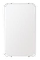 洗面鏡 浴室鏡 トイレ鏡 化粧鏡 日本製 高透過 超透明鏡 角丸四角形 鏡 380mmx640mm スーパークリアーミラー 30Rクリスタルカット 国産 フレームレスミラー 風呂 鏡 壁掛け鏡 壁掛けミラー ウオールミラー 姿見 姿見鏡 ミラー