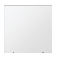 鏡 壁掛け 鏡 ミラー 日本製 四角形 鏡 650mmx650mm クリアーミラー シンプルタイプ 国産 フレームレスミラー 壁掛け鏡 壁掛けミラー ウォールミラー 姿見 姿見鏡 インテリアミラー (リビング、玄関、廊下、寝室など一般空間用)