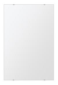 飛散防止加工 鏡 ミラー 安心 安全 クリスタルミラーシリーズ(一般空間用):i-cm-h-s-608mmx912mm-HS(四角形)(クリアーミラー シンプルタイプ)日本製 アイビーオリジナル 壁掛け鏡 ウォールミラー 姿見 鏡 専用取付金具付き