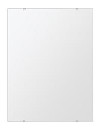 洗面鏡 浴室鏡 トイレ鏡 化粧鏡 日本製 四角形 608mmx811mm クリアーミラー シンプルタイプ 国産 フレームレスミラー 風呂 鏡 壁掛け鏡 壁掛けミラー ウオールミラー 姿見 姿見鏡 ミラー