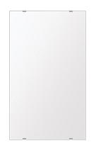 スーパークリアー ミラー 350x600mm 長方形 シンプルカット 鏡 壁掛け ミラー 壁掛け 日本製 5mm厚 玄関 リビング 寝室 トイレ 取付金具と説明書 高透過 高精彩 壁掛け壁 壁に直付け ウオールミラー 姿見 全身 おしゃれ 軽量 角型 四角 四角形
