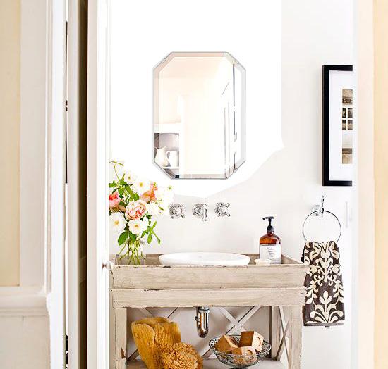 トイレ鏡 洗面鏡 化粧鏡 浴室鏡 クリスタルミラー シリーズ:cdx-emerald360x500-18mm(エメラルド)(クリアーミラー デラックスカットタイプ)( 鏡 壁掛け 鏡 姿見 壁掛けミラー ウォールミラー )