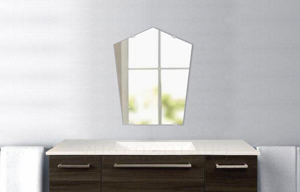洗面鏡 浴室鏡 トイレ鏡 化粧鏡 日本製 高透過 超透明鏡 ファンシーブリット 400mm×500mm スーパークリアーミラー シンプルタイプ 国産 フレームレスミラー 風呂 鏡 壁掛け鏡 壁掛けミラー ウオールミラー 姿見 姿見鏡 ミラー