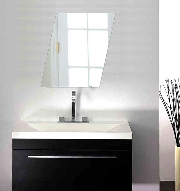 洗面鏡 浴室鏡 トイレ鏡 化粧鏡 日本製 高透過 超透明鏡 ロンボイド 400mm×500mm スーパークリアーミラー シンプルタイプ 国産 フレームレスミラー 風呂 鏡 壁掛け鏡 壁掛けミラー ウオールミラー 姿見 姿見鏡 ミラー