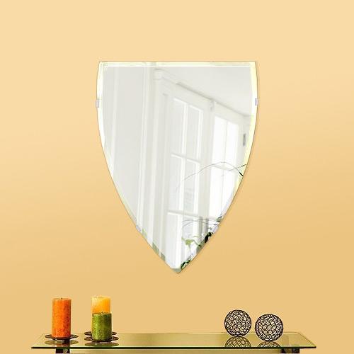 鏡 壁掛け 鏡 ミラー 日本製 セミナベット 400mm×530mm クリアーミラー クリスタルカット 国産 フレームレスミラー 壁掛け鏡 壁掛けミラー ウォールミラー 姿見 姿見鏡 インテリアミラー (リビング、玄関、廊下、寝室など一般空間用)