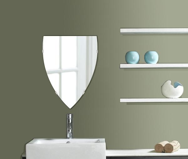 洗面鏡 浴室鏡 トイレ鏡 化粧鏡 日本製 セミナベット 400mm×530mm クリアーミラー シンプルタイプ 国産 フレームレスミラー 風呂 鏡 壁掛け鏡 壁掛けミラー ウオールミラー 姿見 姿見鏡 ミラー