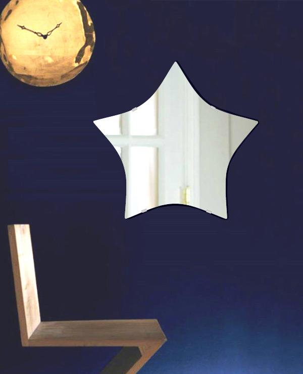 ●日本正規品● 飛散防止加工 鏡 鏡 ミラー 高透過 安心 超透明鏡 鏡 安心 安全 クリスタルミラー シリーズ(一般空間用):sc-star550x520-km-HS(スター)(スーパークリアーミラー シンプルタイプ)アイビーオリジナル 鏡, 棚フック.雑貨 ゆららかマーケット:fe37489d --- hortafacil.dominiotemporario.com