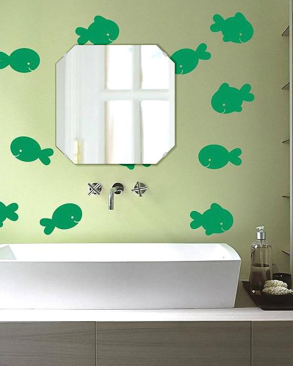 飛散防止加工 鏡 ミラー 安心 安全 クリスタルミラー シリーズ:cdx-squareemerald450x450-km-HS(スクエア・エメラルド)(クリアーミラー シンプルタイプ)日本製 アイビーオリジナル洗面 浴室 風呂 トイレ 水廻り 壁掛け 姿見 鏡