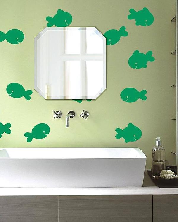 飛散防止加工 鏡 ミラー 高透過 超透明鏡 安心 安全 クリスタルミラー シリーズ:scdx-squareemerald450x450-18mm-HS(スクエア・エメラルド)(スーパークリアーミラー デラックスカットタイプ)アイビーオリジナル 洗面 浴室 風呂 トイレ 鏡 ミラー