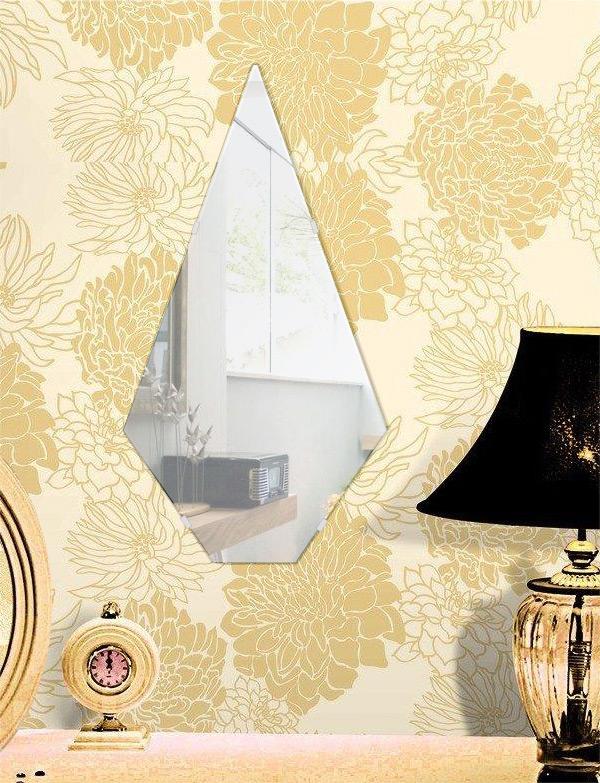 鏡 玄関 320x600mm ピナクル シンプルカット 玄関鏡 玄関 鏡 壁掛け ミラー 壁掛け 日本製 5mm厚 玄関 リビング 寝室 トイレ 取付金具と説明書 壁掛け鏡 壁に直付け ウオールミラー 姿見 鏡 全身 おしゃれ 軽量 尖塔