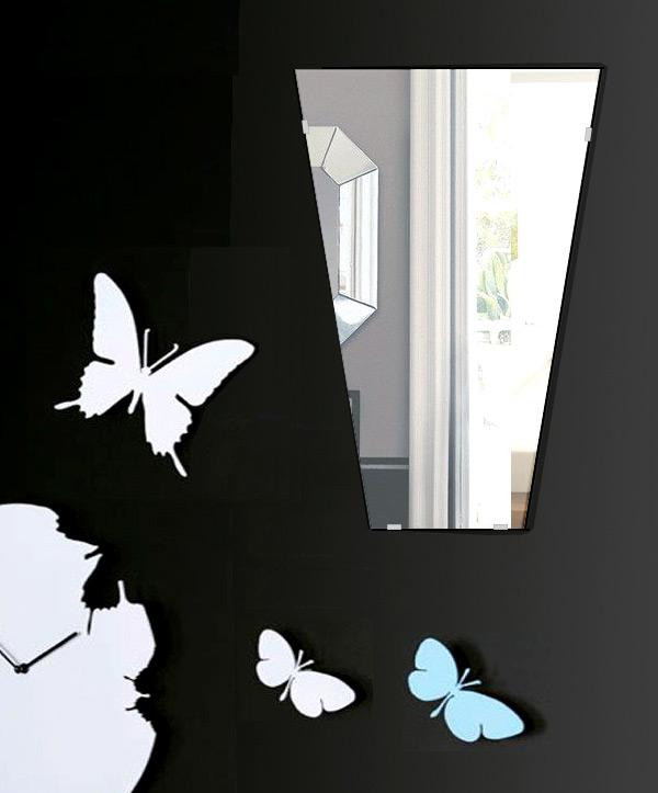 鏡 壁掛け 鏡 ミラー 日本製 高透過 超透明鏡 テーパードバゲット 400mm×600mm スーパークリアーミラー シンプルタイプ 国産 フレームレスミラー 壁掛け鏡 壁掛けミラー ウォールミラー 姿見 姿見鏡 インテリアミラー (リビング、玄関、廊下、寝室など一般空間用)
