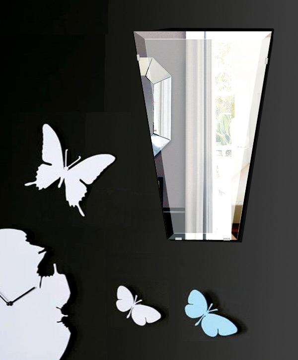 鏡 壁掛け 鏡 ミラー 日本製 高透過 超透明鏡 テーパードバゲット 400mm×600mm スーパークリアーミラー デラックスカット 国産 フレームレスミラー 壁掛け鏡 壁掛けミラー ウォールミラー 姿見 姿見鏡 インテリアミラー (リビング、玄関、廊下、寝室など一般空間用)