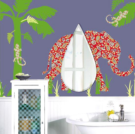 飛散防止加工 鏡 ミラー 安心 安全 クリスタルミラー シリーズ:cdx-teardrop320x600-9mm-HS(ティアドロップ)(クリアーミラー クリスタルカットタイプ)日本製 アイビーオリジナル洗面 浴室 風呂 トイレ 水廻り 壁掛け 姿見 鏡