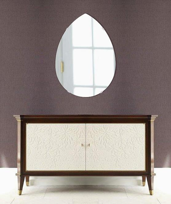 鏡 壁掛け 鏡 ミラー 日本製 ペア(洋梨形) 430mm×600mm クリアーミラー シンプルタイプ 国産 フレームレスミラー 壁掛け鏡 壁掛けミラー ウォールミラー 姿見 姿見鏡 インテリアミラー (リビング、玄関、廊下、寝室など一般空間用)