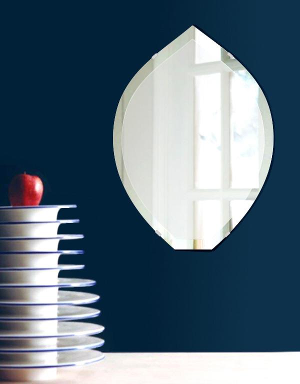 飛散防止加工 鏡 ミラー 安心 安全 クリスタルミラーシリーズ(一般空間用):c-leek430x600-18mm-HS(リーク)(クリアーミラー デラックスカットタイプ)日本製 アイビーオリジナル 壁掛け鏡 ウォールミラー 姿見 鏡 専用取付金具付き