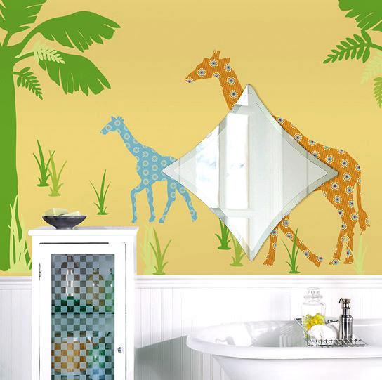 トイレ鏡 洗面鏡 化粧鏡 浴室鏡 クリスタルミラー シリーズ:cdx-diamond500x500-18mm(ダイヤモンド)(クリアーミラー デラックスカットタイプ)( 鏡 壁掛け 鏡 姿見 壁掛けミラー ウォールミラー )