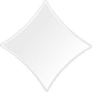 トイレ鏡・洗面鏡・化粧鏡・浴室鏡、クリスタルミラー・シリーズ、スーパークリアーミラー・クリスタルカットタイプ、ダイヤモンド(Diamond):scdx-diamond500x500-9mm